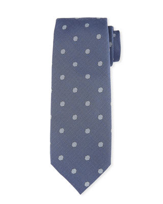 Open Dot Silk-Wool Tie