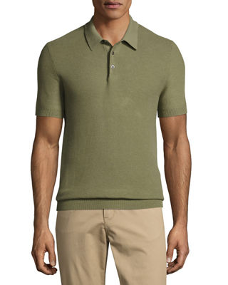Michael Kors Silk-Cotton Piqu?? Polo Shirt