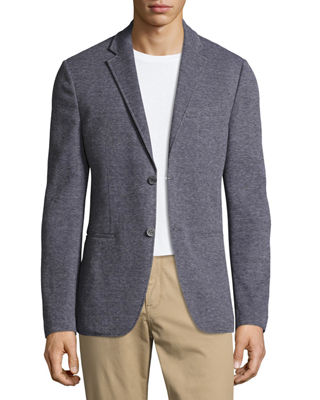 Birdseye Knit Two-Button Blazer