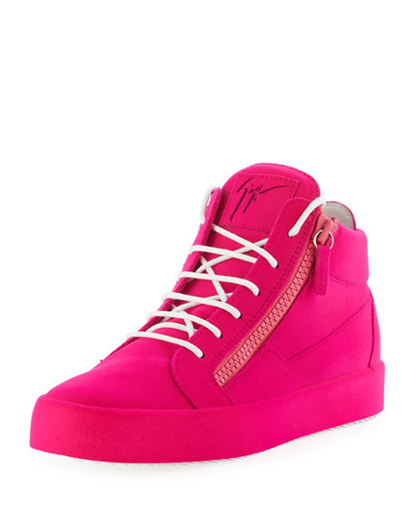 Pink Flocked May London High-Top Sneakers Giuseppe Zanotti G3T4SCIAI