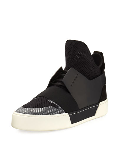 Balenciaga Men's Multi-Material High-Top Trainer Sneaker