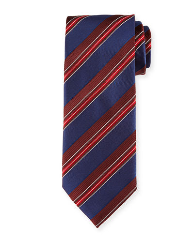 Satin Stripe Silk Tie