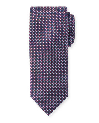 Brioni Alternating Tic Silk Tie
