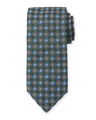 Brioni Circle/Box Silk Tie