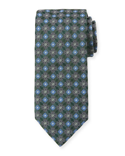 Circle/Box Silk Tie