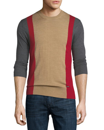 Colorblock Wool Sweater
