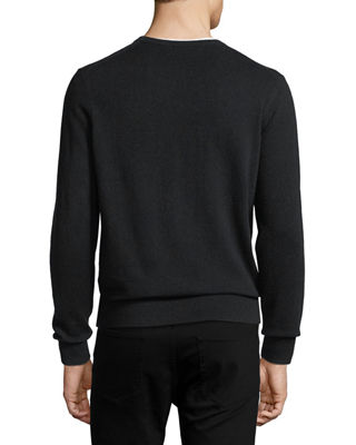 Image 2 of 2: Cloud Cashmere V-Neck Sweater