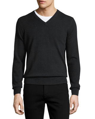 Image 1 of 2: Cloud Cashmere V-Neck Sweater