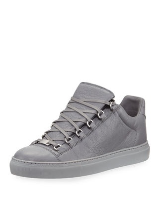 Balenciaga Men's Arena Leather Low-Top Sneaker