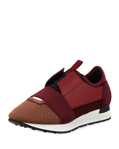 Balenciaga Men's Race Runner Mesh & Leather Sneaker
