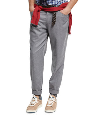 Lightweight Flannel Wool Pants