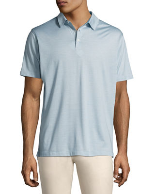Peter Millar Collection Cote d'Azur Striped Silk-Cotton Polo