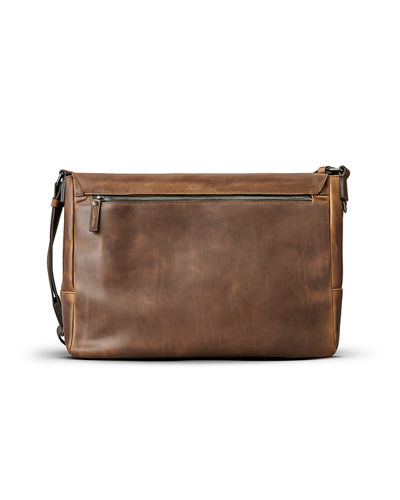 Men's East-West Leather Messenger Bag