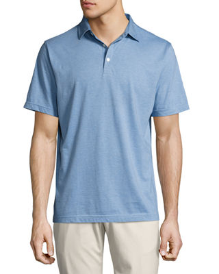 Peter Millar Crown Soft Striped Cotton-Silk Polo Shirt