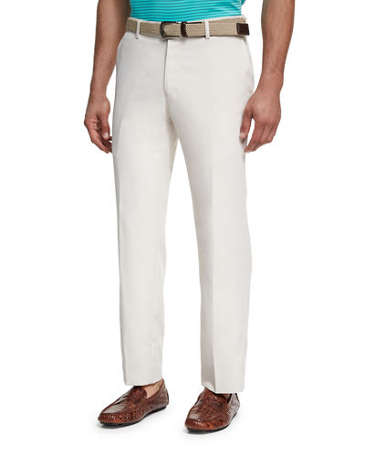 Peter Millar Durham High-Drape Performance Pants and Matching