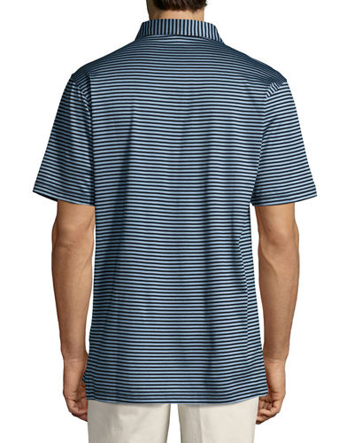 Crown Classic Striped Cotton Polo Shirt