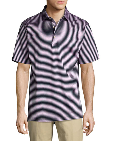 Peter Millar Cottons CROWN CLASSIC STRIPED COTTON POLO SHIRT