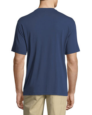 Image 2 of 4: Crown Cotton-Modal Crewneck Pocket T-Shirt