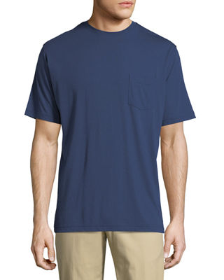 Image 1 of 4: Crown Cotton-Modal Crewneck Pocket T-Shirt