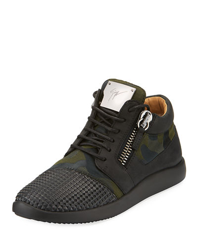 Pyramid Double-Zip Running Sneaker