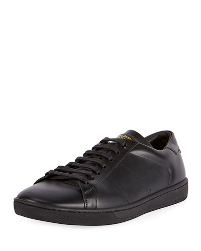 Saint Laurent SL/01 Men's Leather Low-Top Sneaker