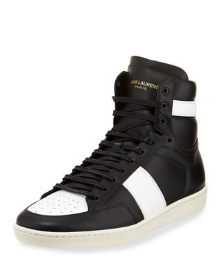 Image 1 of 3: SL/10H Men's Signature Court Classic Leather High-Top Sneaker