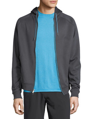 Peter Millar Crown Active Zip-Front Hoodie
