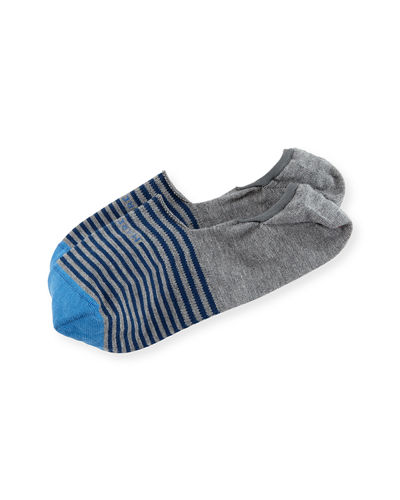 Marcoliani Invisible Touch Striped No-Show Socks