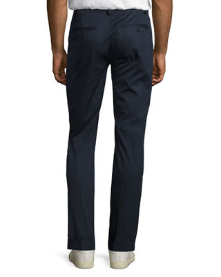 Image 2 of 2: Cuffed Cotton Slim-Straight Pants