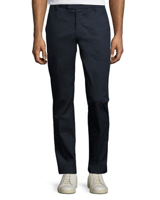 Image 1 of 2: Cuffed Cotton Slim-Straight Pants