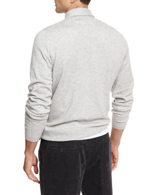 Image 3 of 3: Cashmere Long-Sleeve Polo Sweater