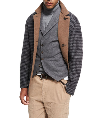 Brunello Cucinelli Wool-Cashmere-Silk Knit Overshirt and Matching