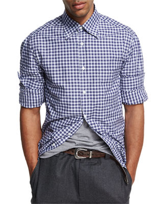 Madras Plaid Cotton Shirt