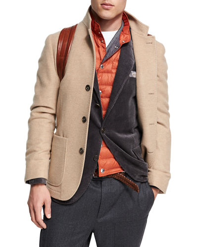 Brunello Cucinelli Donegal Tweed Alpaca-Wool Sport Jacket, Medium