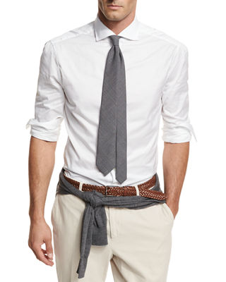 Brunello Cucinelli Button-Down Slim-Spread Collar Shirt