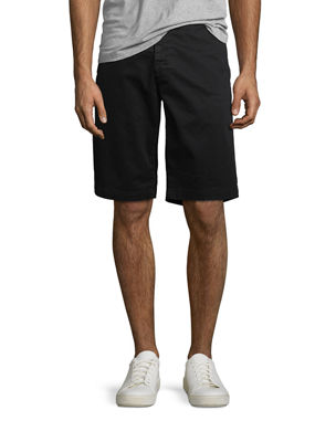 d887265cbf6d AG Adriano Goldschmied Griffin Flat-Front Shorts