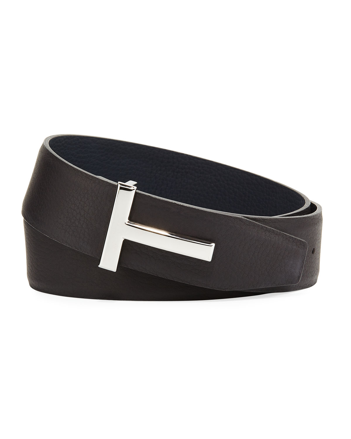 a07660bd9 TOM FORD T-Buckle Reversible Leather Belt | Neiman Marcus