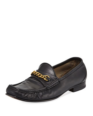 chain buckle loafers - Blue Tom Ford