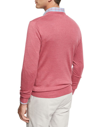 Crown Soft Merino/Silk Wool V-Neck Sweater