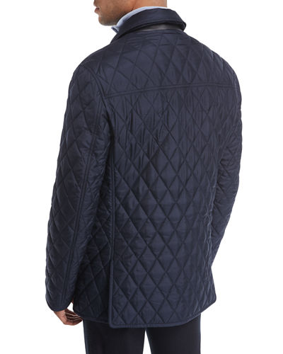 Quilted Silk Car Coat