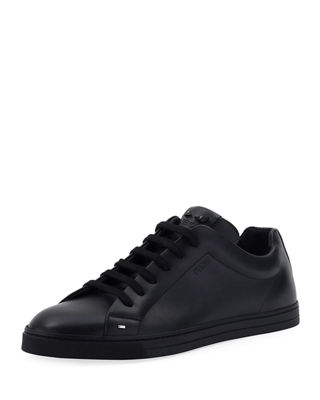 Fendi Bag Bugs Leather Low-Top Sneaker