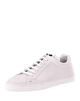 Fendi Men's Bag Bugs Leather Low-Top Sneakers