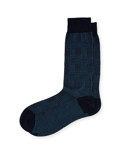 Pantherella Montague Houndstooth Birdseye Check Socks