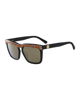MCM Square Logo Plaque Sunglasses