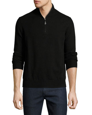 Nano-Cashmere Quarter-Zip Sweater