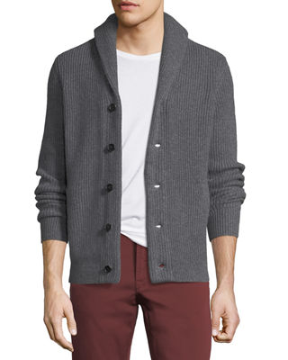 Neiman Marcus Cashmere Collection Cashmere Shawl-Collar Cardigan