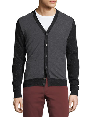 Cashmere Colorblock V-Neck Cardigan