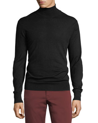 Cashmere-Silk Turtleneck Sweater