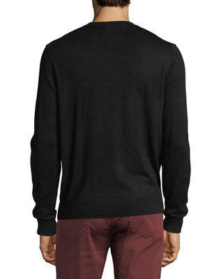 Image 2 of 2: Cashmere-Silk V-Neck Sweater