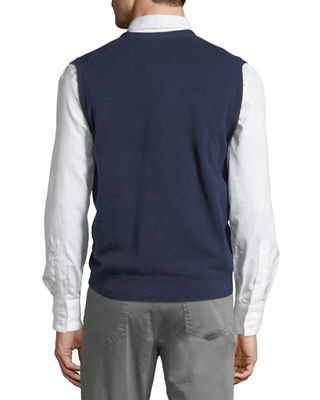 Image 2 of 3: Cashmere V-Neck Cardigan Vest